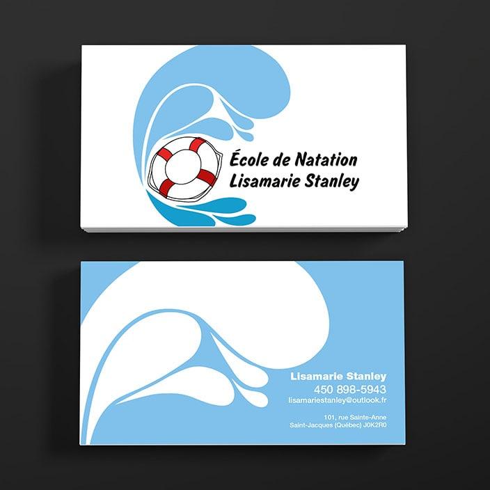 Cartes d'affaires - École de natation Lisamarie Stanley