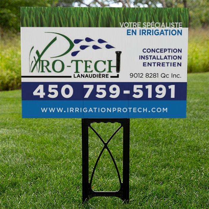 Pancarte d'extérieur - Irrigation Pro-Tech Lanaudière
