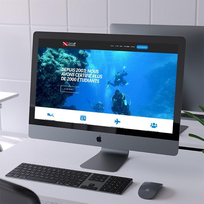 Création de site web - École de plongée Lanaudière