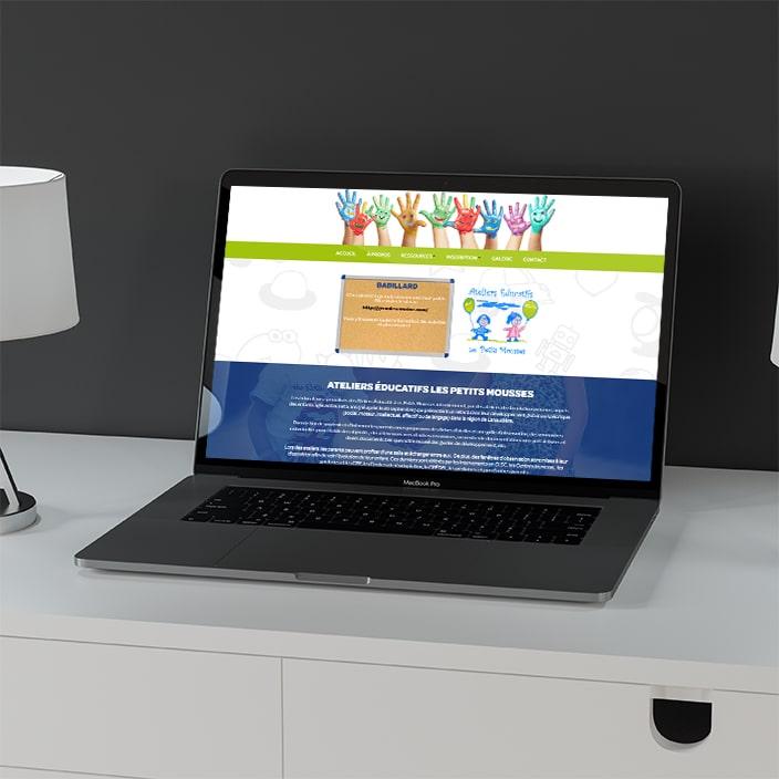 Création de site web - Ateliers Éducatifs Les Petits Mousses