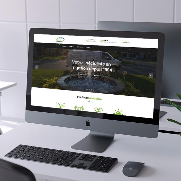 Création de site web - Irrigation Pro-Tech Lanaudière