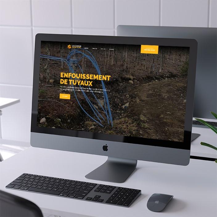 Création de site web - Les excavations Alexie Riopel
